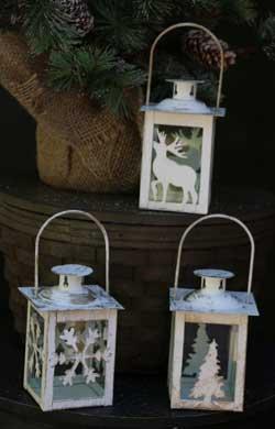 Wintery White Lantern