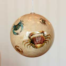 Crab Decoupage Ornament