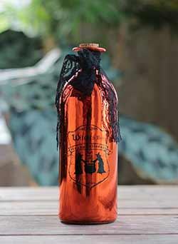 Orange Halloween Potion Bottle