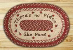 No Place Like Home Braided Jute Rug