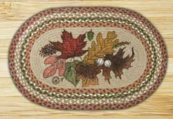 Autumn Leaves Braided Jute Rug