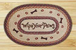 Wipe Your Paws Braided Jute Rug