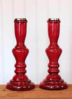 Rosanna Glass Candlesticks (Pair of 2)