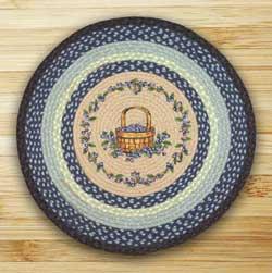 Blueberry Basket Braided Jute Rug - Round