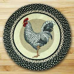 Rooster Braided Jute Rug - Round
