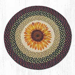 Sunflower Braided Jute Rug - Round