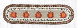 Harvest Pumpkin Braided Table Runner, 48 inch