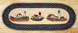 Three Lighthouses Table Runner - 36 inch