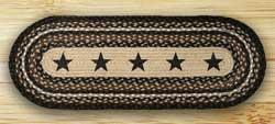 Black Star Braided Jute Table Runner- 36 inch