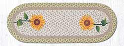 Tall Sunflowers Braided 36 inch Table Runner