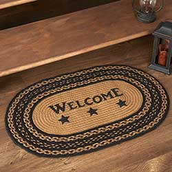Farmhouse Welcome Oval Rug with Pad