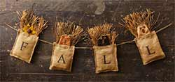 Fall Burlap Banner with Pumpkins
