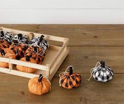 Buffalo Plaid Pumpkin Ornament