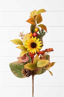 Fall Sunflower Floral Bush