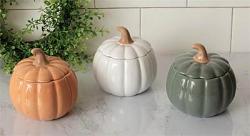 Pumpkin Shaped Covered Bowl