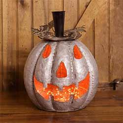 Metal Jack o'Lantern Pumpkin