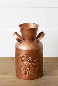 Give Thanks Copper Milk Can