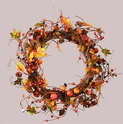 Pumpkin & Autumn Berry Wreath