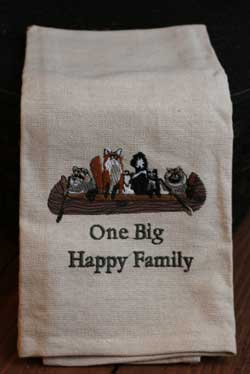 One Big Happy Family Dishtowel