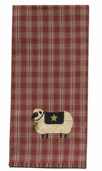 Sheep with Star Dishtowel