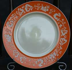 Fall Flora Plate - Orange