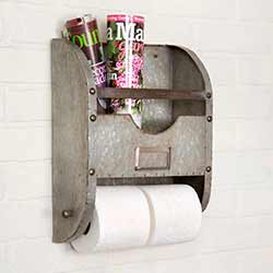 Antiqued Zinc Bathroom Caddy