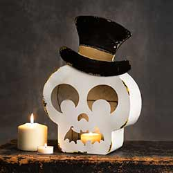 Skeleton Tin Luminary
