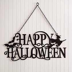 Happy Halloween Metal Cutout Sign