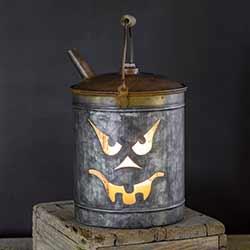 Jack O'Lantern Oil Can Luminary