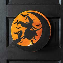 Witch Silhouette Candle Luminary