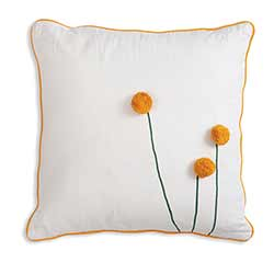 Sun Ball Flower Throw Pillow