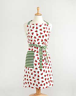 Watermelon Stripe Apron