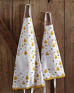 Honey Bee Adult & Child Apron Set
