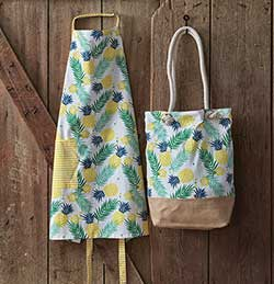 Pineapple Apron & Market Bag Set