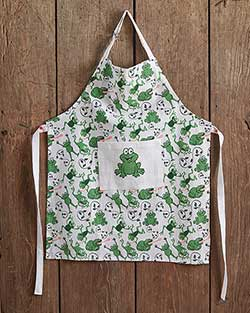 Leaping Frogs Children's Apron