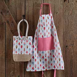 Ice Cream Child Apron & Market Bag Set