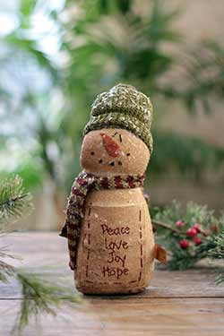 Peace Love Joy Hope Snowman