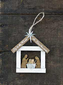 Joy to the World Nativity Ornament