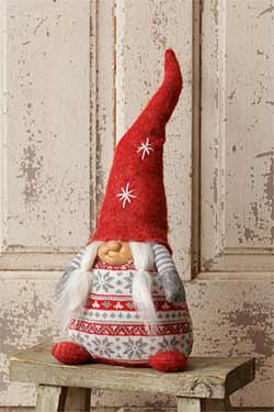 Red Squatty Gnome Doll