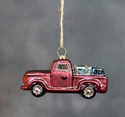 Vintage Glass Truck Ornament