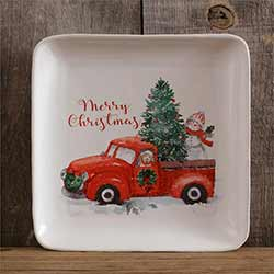 Farmhouse Christmas Plates (Set of 2)