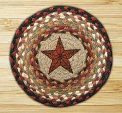 Barn Star Braided Jute Tablemat - Round (10 inch)