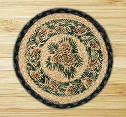 Pinecone Braided Tablemat - Round (10 inch)