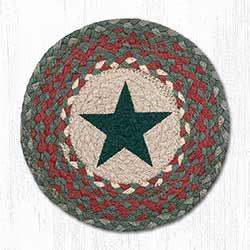 Green Star Braided Tablemat - Round (10 inch)
