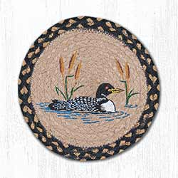Loon Cattail Braided Tablemat - Round (10 inch)