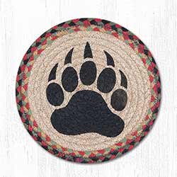 Bear Paw Braided Tablemat - Round (10 inch)