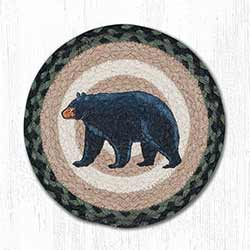 Mama & Baby Bear Braided Tablemat - Round (10 inch)