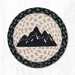 Mountain Silhouette Braided Tablemat - Round (10 inch)
