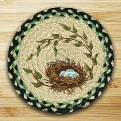 Robins Nest Braided Jute Tablemat - Round (10 inch)