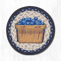 Blueberry Box Braided Tablemat - Round (10 inch)